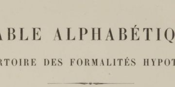 la table alphabétique